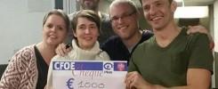 Extra donatie aan Plan Belgie